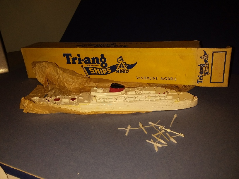 SS Flandre France liner 1950s white vsc boxed *