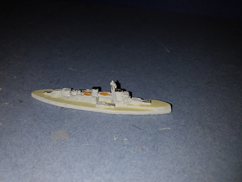 1/3000 HMS Colossus RN WW1 battleship