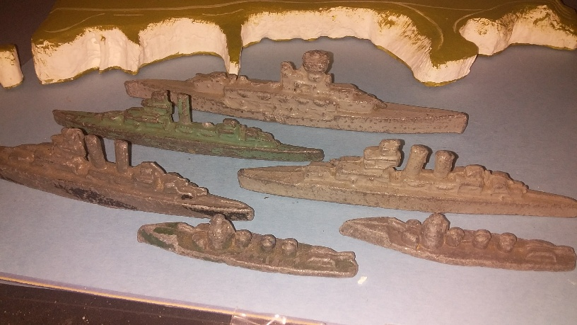 6 x Various Crescent & Timpo warships pre WW2