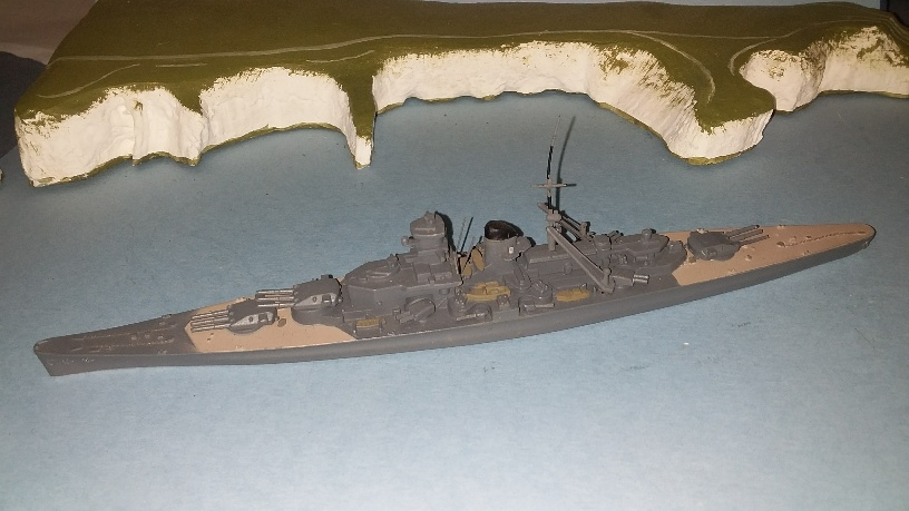 Scharnhorst German Battlecruiser 1939 with funnel cap