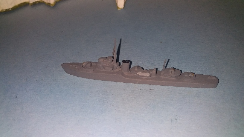 Hunt type I 1940 RN destroyer new guns