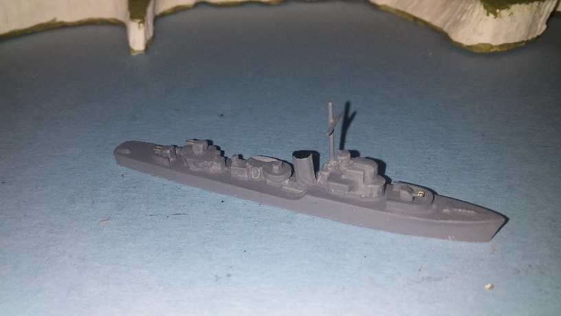 Hunt type II 1942 RN destroyer new guns
