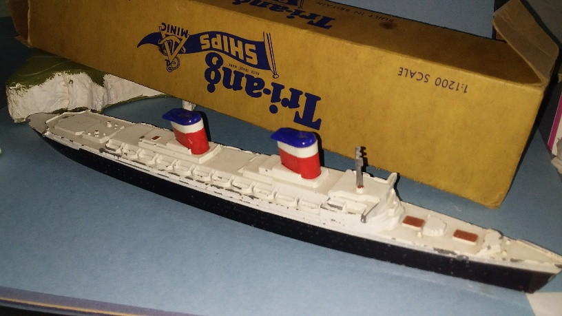 SS United States Liner 1950 ch boxed *