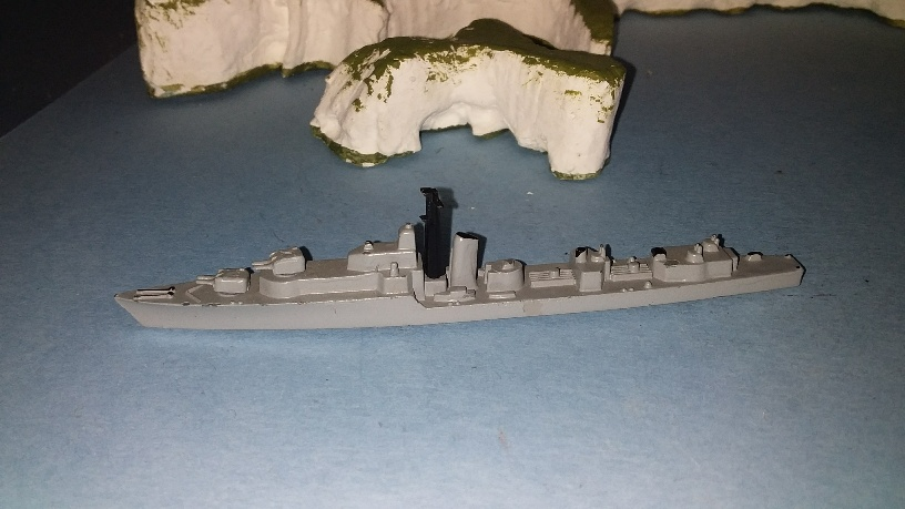 HMS Alamein RN Battle class destroyer grey oc
