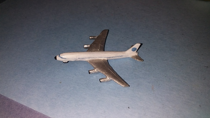 Boeing 707 airliner 1970s-90s Pan-Am paintwork p