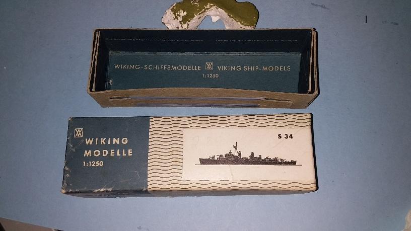 Original box for US Gearing destroyer
