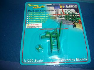 Panamax crane green jib up #