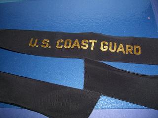 US Coast Guard cap ribbon tally