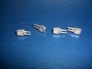 "Replica Tremo 15"" Twin gun turrets RN x 4"