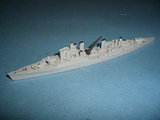 HMS Superb RN cruiser 1950s gr mint