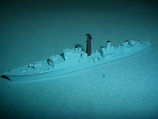 HMS Daring RN Destroyer 1950s bl vir. mint