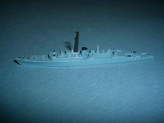 HMS Volage RN 1950s frigate blue restored * - Click Image to Close