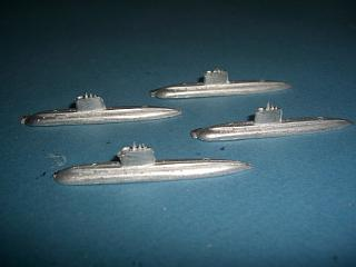 Kilo Class Russian USSR submarine 1980s set of 4