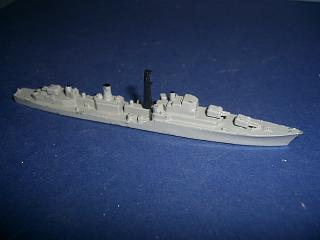 HMS Daring RN Destroyer 1950s grey fsc