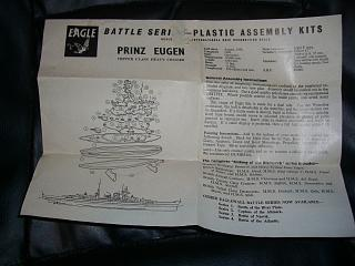 Prinz Eugen German heavy cruiser 1941 instruction sheet