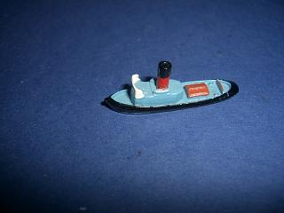 Harbour tug red funnel blue upperworks rare cast funnel mint